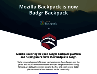backpack.openbadges.org screenshot