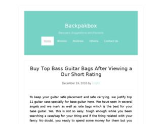 backpackbox.com screenshot