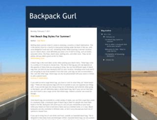 backpackgurl.blogspot.com screenshot