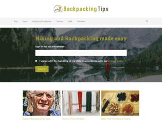 backpacking-tips.com screenshot