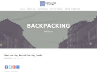 backpackingholidays.org.uk screenshot