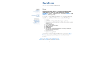 backpress.org screenshot