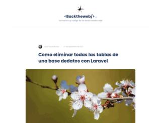backtheweb.com screenshot