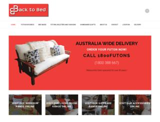 backtobed.com.au screenshot