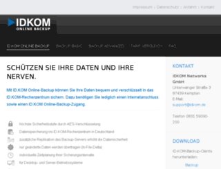 backup.idkom.de screenshot