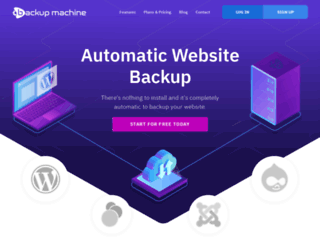 backupmachine.com screenshot