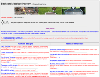 backyardmetalcasting.com screenshot