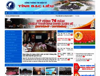 baclieu.gov.vn screenshot