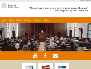 badarochurch.org screenshot