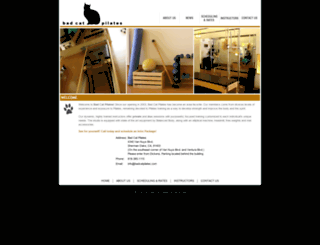 badcatpilates.com screenshot