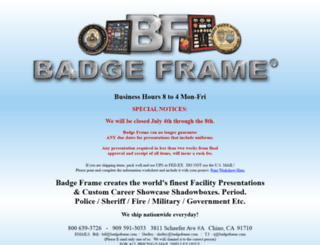 badgeframe.com screenshot