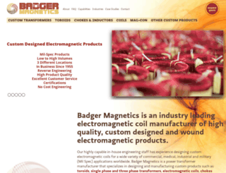 badgermagnetics.com screenshot