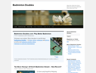 badmintondoubles.com screenshot