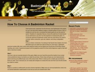 badmintonracket.biz screenshot