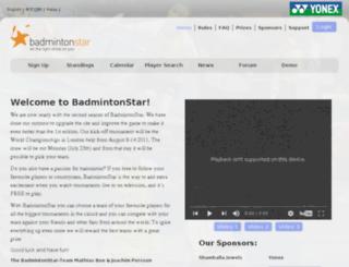 badmintonstar.org screenshot
