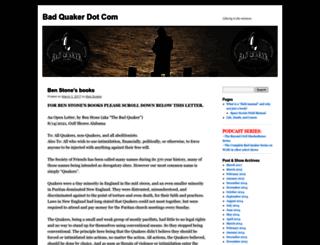 badquaker.com screenshot