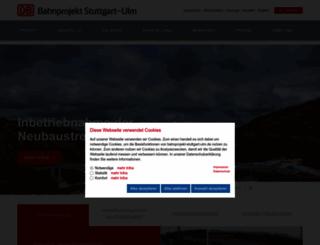 bahnprojekt-stuttgart-ulm.de screenshot