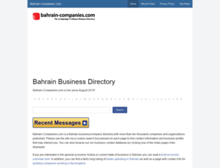 bahrain-companies.com screenshot