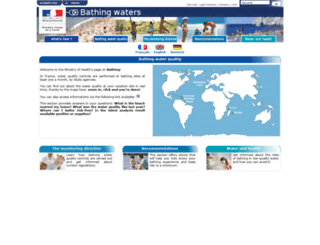 baignades.sante.gouv.fr screenshot