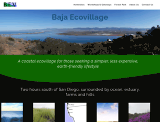 bajaecovillage.com screenshot