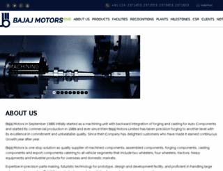 bajajmotors.com screenshot