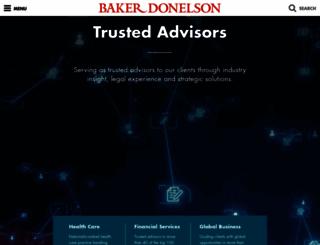 bakerdonelson.com screenshot