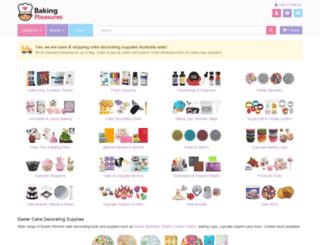 bakingpleasures.com.au screenshot
