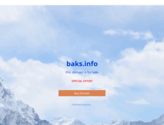 baks.info screenshot