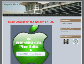 balajicollege.webs.com screenshot