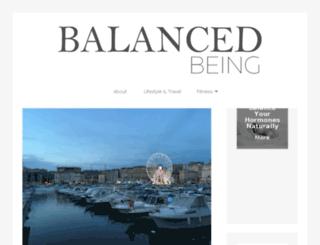 balancedbeingonline.com screenshot