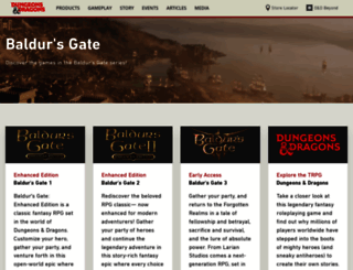baldursgate.com screenshot