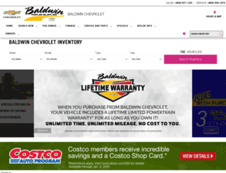 baldwinchevy.com screenshot
