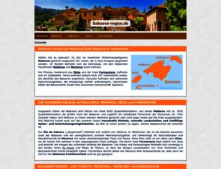 balearen-region.de screenshot