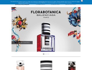 balenciagafragrance.com screenshot
