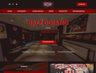 bali-dojang.de screenshot