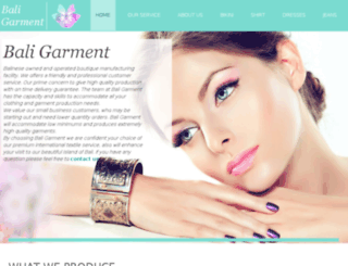 bali-garment.com screenshot