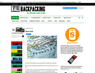 balibackpacking.com screenshot