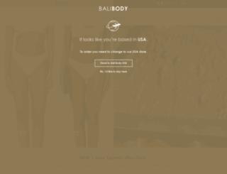balibody.com.au screenshot