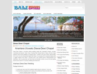 baliweddingoptions.com screenshot