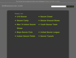 balkansoccer.com screenshot
