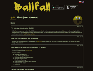 ballfall.kotula.net.pl screenshot