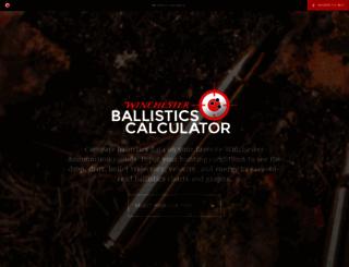 ballisticscalculator.winchester.com screenshot