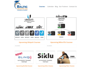 balticnetworkstraining.com screenshot