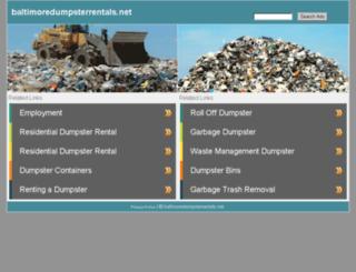 baltimoredumpsterrentals.net screenshot