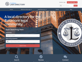 baltimorelawdirectory.com screenshot