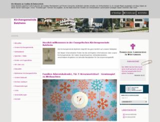 balzheim-evangelisch.de screenshot