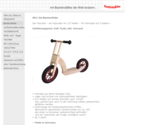 bambinobike.com screenshot