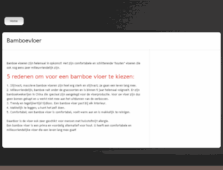 bamboe-vloer.be screenshot