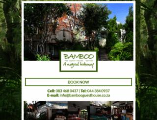bambooguesthouse.co.za screenshot