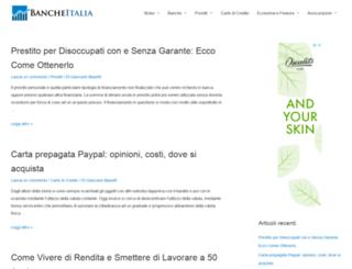 bancheitalia.it screenshot